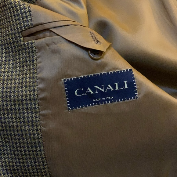 Canali Other - Canali 46L brown Houndstooth Blazer